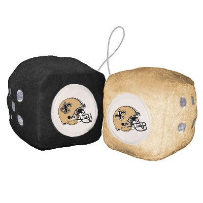 NFL Officially licensed products New Orleans Saints Fuzzy Dice Display your team proudly with these officially licensed NFL