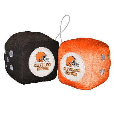 NFL Officially licensed products Cleveland Browns Fuzzy Dice Display your team proudly with these officially licensed NFL Fu