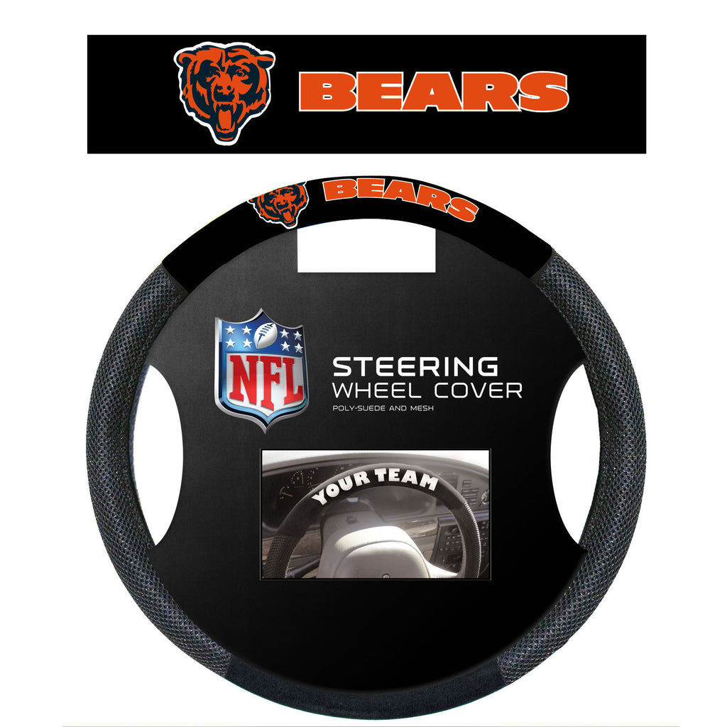 NFL Officially licensed products Chicago Bears Poly-Suede Steering Wheel Cover Poly-suede material for comfortable grip. Sli