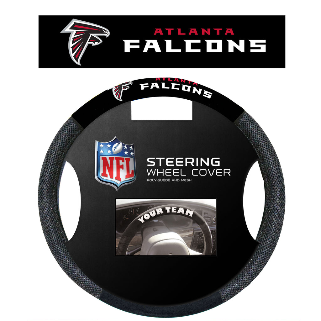NFL Officially licensed products Atlanta Falcons Poly-Suede Steering Wheel Cover Poly-suede material for comfortable grip. S