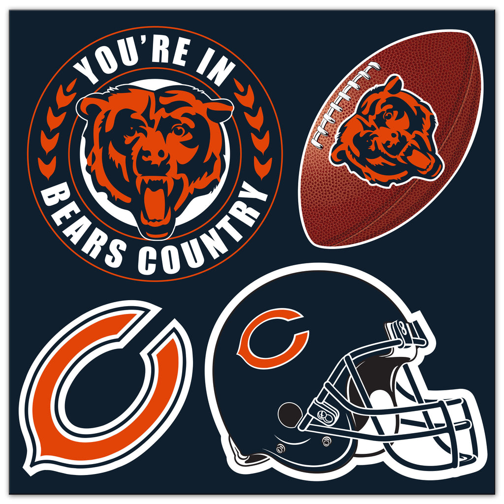 NFL Officially licensed products Chicago Bears 4 Piece Magnet Set Show your team spirit proudly with this 4 piece Vinyl Magn
