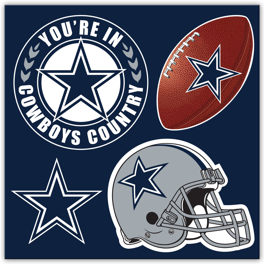 NFL Officially licensed products Dallas Cowboys 4 Piece Magnet Set Show your team spirit proudly with this 4 piece Vinyl Mag