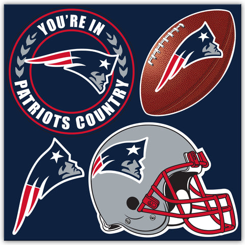 NFL Officially licensed products New England Patriots 4 Piece Magnet Set Show your team spirit proudly with this 4 piece Vin