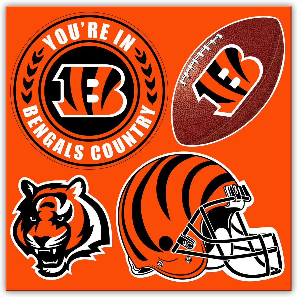 NFL Officially licensed products Cincinnati Bengals 4 Piece Magnet Set Show your team spirit proudly with this 4 piece Vinyl