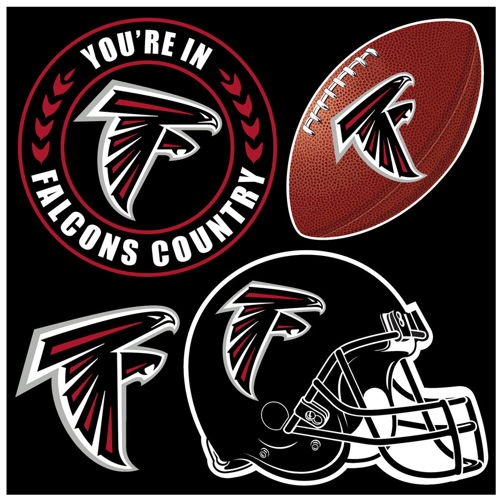 NFL Officially licensed products Atlanta Falcons 4 Piece Magnet Set Show your team spirit proudly with this 4 piece Vinyl Ma