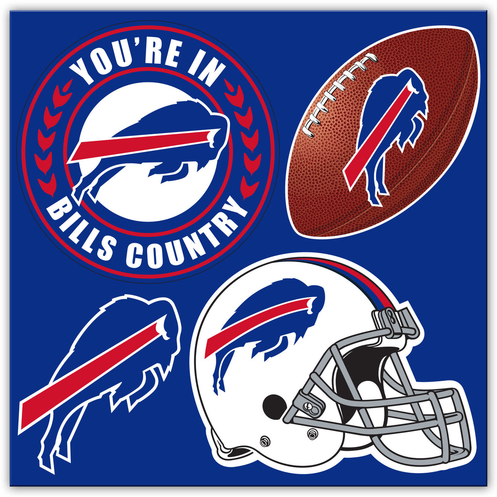 NFL Officially licensed products Buffalo Bills 4 Piece Magnet Set Show your team spirit proudly with this 4 piece Vinyl Magn