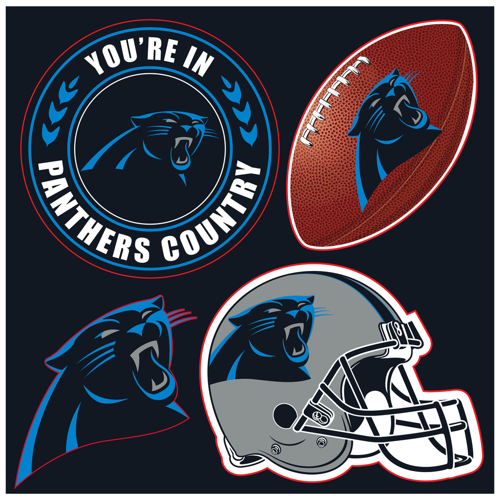 NFL Officially licensed products Carolina Panthers 4 Piece Magnet Set Show your team spirit proudly with this 4 piece Vinyl
