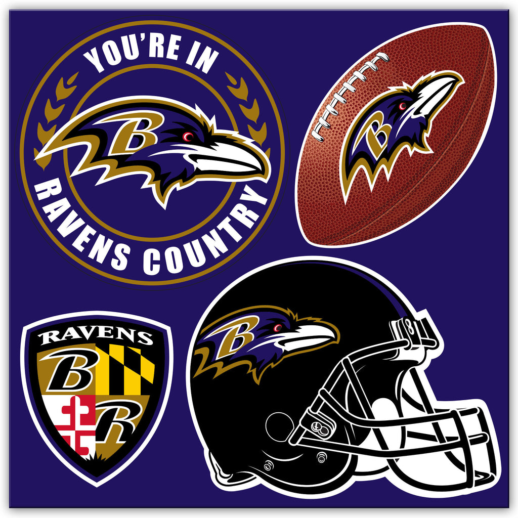 NFL Officially licensed products Baltimore Ravens 4 Piece Magnet Set Show your team spirit proudly with this 4 piece Vinyl M