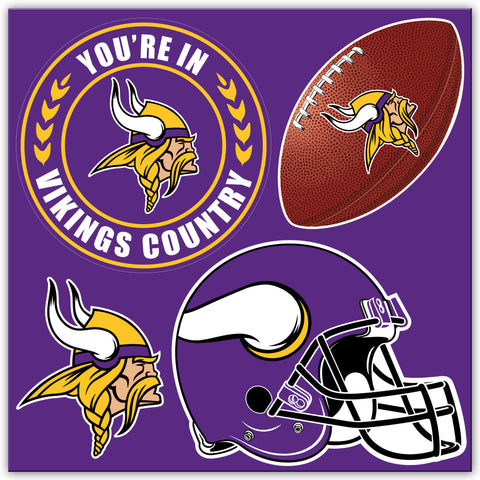 NFL Officially licensed products Minnesota Vikings 4 Piece Magnet Set Show your team spirit proudly with this 4 piece Vinyl