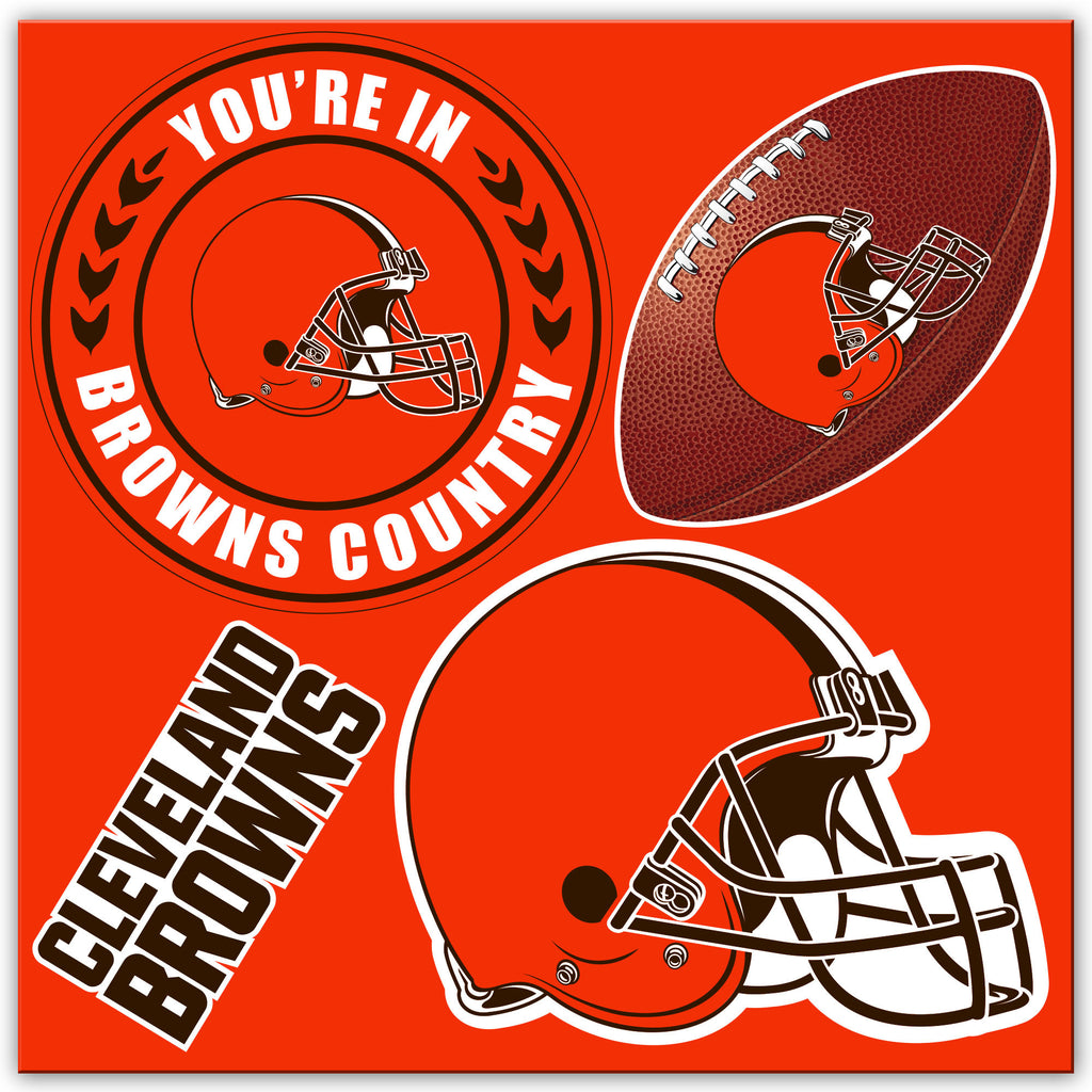 NFL Officially licensed products Cleveland Browns 4 Piece Magnet Set Show your team spirit proudly with this 4 piece Vinyl M
