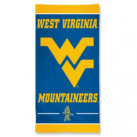 West Virginia Mountaineers Beach Towel - New