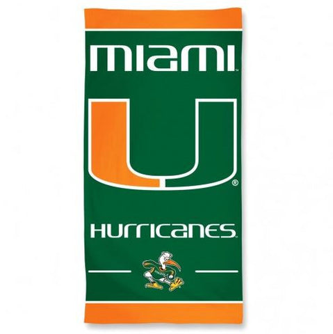 Miami Hurricanes Beach Towel
