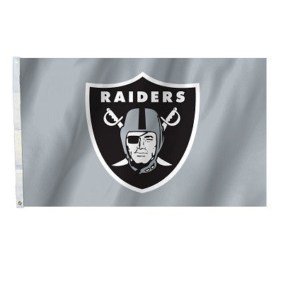 NFL Officially licensed products Oakland Raiders 3 Ft. X 5 Ft. Flag W/Grommetts Show everyone that you are a die-hard fan by