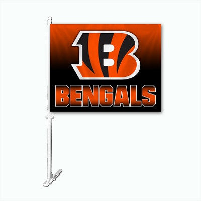 NFL Officially licensed products Cincinnati Bengals Car Flag Show your team spirit proudly with this NFL car flag. Each 11-i
