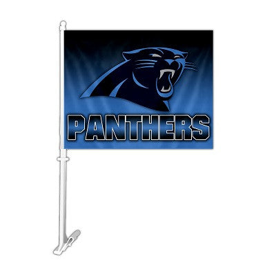 NFL Officially licensed products Carolina Panthers Car Flag Show your team spirit proudly with this NFL car flag. Each 11-in
