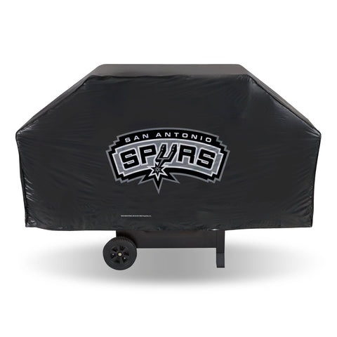 SAN ANTONIO BLACK BACKGROUND SPURS ECONOMY GRILL COVER