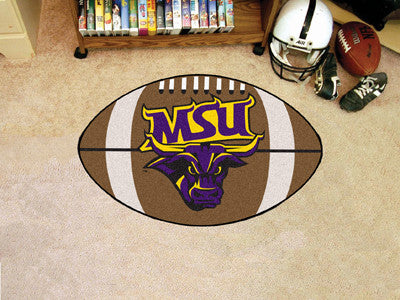 "NCAA Officially licensed Minnesota State University - Mankato Football Mat 20.5""x32.5"" Protect your floor in style and show"