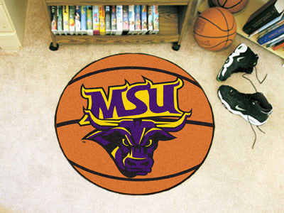 "NCAA Officially licensed Minnesota State University - Mankato Basketball Mat 27"" diameter Protect your floor in style and sh"