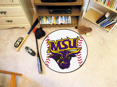"NCAA Officially licensed Minnesota State University - Mankato Baseball Mat 27"" diameter Protect your floor in style and show"