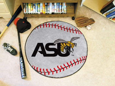 "NCAA Officially licensed Alabama State University Baseball Mat 27"" diameter Protect your floor in style and show off your fa"