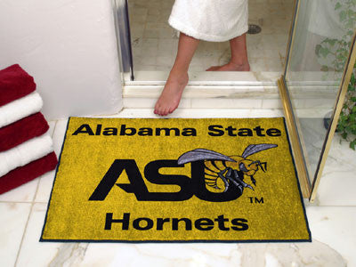 "NCAA Officially licensed Alabama State University All Star Mat 33.75""x42.5"" Join the All-Star team and decorate your home or"