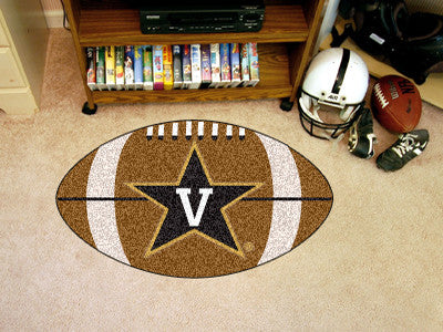 "NCAA Officially licensed Vanderbilt University Football Mat 20.5""x32.5"" Protect your floor in style and show off your fandom"