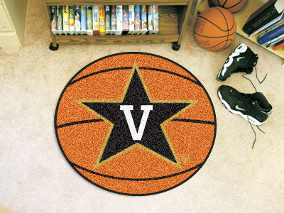 "NCAA Officially licensed Vanderbilt University Basketball Mat 27"" diameter Protect your floor in style and show off your fan"