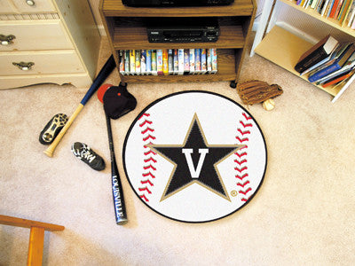 "NCAA Officially licensed Vanderbilt University Baseball Mat 27"" diameter Protect your floor in style and show off your fando"
