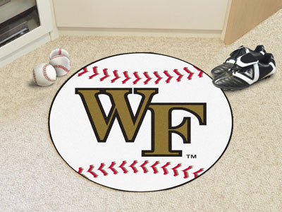"NCAA Officially licensed Wake Forest University Baseball Mat 27"" diameter Protect your floor in style and show off your fand"
