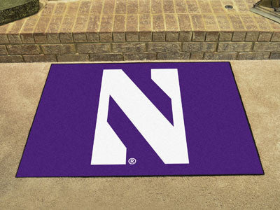 "NCAA Officially licensed Northwestern University All Star Mat 33.75""x42.5"" Join the All-Star team and decorate your home or"