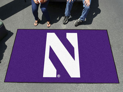 "NCAA Officially licensed Northwestern University Ulti-Mat 59.5""x94.5"" Start showing off your team pride with an Ulti-Mat fro"