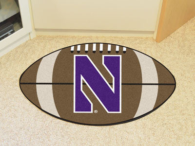 "NCAA Officially licensed Northwestern University Football Mat 20.5""x32.5"" Protect your floor in style and show off your fand"