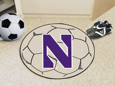 "NCAA Officially licensed Northwestern University Soccer Ball 27"" diameter Protect your floor in style and show off your fand"