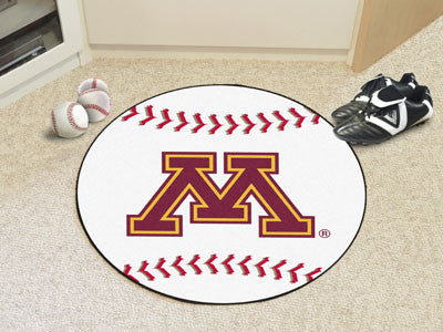 "NCAA Officially licensed University of Minnesota Baseball Mat 27"" diameter Protect your floor in style and show off your fan"