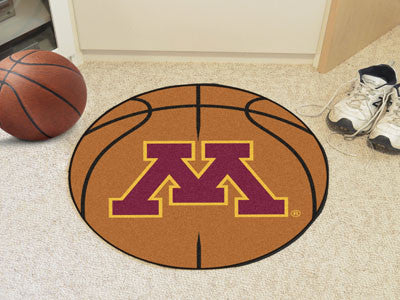 "NCAA Officially licensed University of Minnesota Basketball Mat 27"" diameter Protect your floor in style and show off your f"