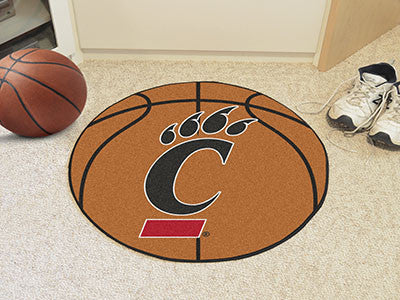 "NCAA Officially licensed University of Cincinnati Basketball Mat 27"" diameter Protect your floor in style and show off your"