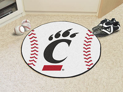 "NCAA Officially licensed University of Cincinnati Baseball Mat 27"" diameter Protect your floor in style and show off your fa"