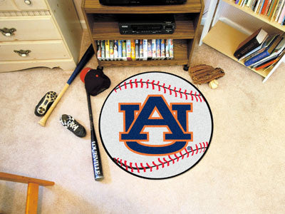 "NCAA Officially licensed Auburn University Baseball Mat 27"" diameter Protect your floor in style and show off your fandom wi"