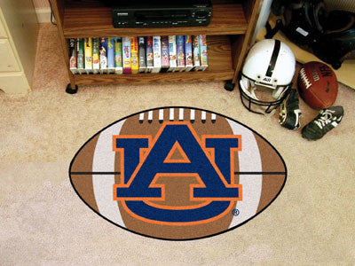 "NCAA Officially licensed Auburn University Football Mat 20.5""x32.5"" Protect your floor in style and show off your fandom wit"