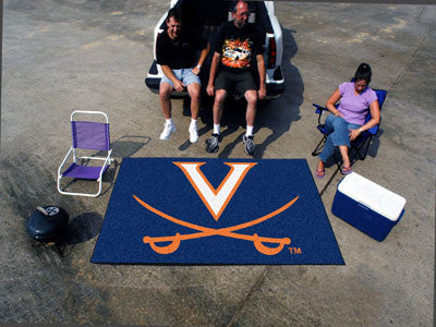 "NCAA Officially licensed University of Virginia Ulti-Mat 59.5""x94.5"" Start showing off your team pride with an Ulti-Mat from"