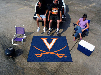 "NCAA Officially licensed University of Virginia Tailgater Mat 59.5""x71"" Start showing off your team pride with a Tailgater M"
