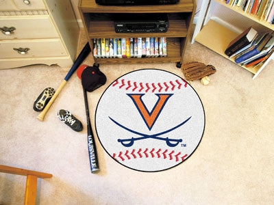 "NCAA Officially licensed University of Virginia Baseball Mat 27"" diameter Protect your floor in style and show off your fand"