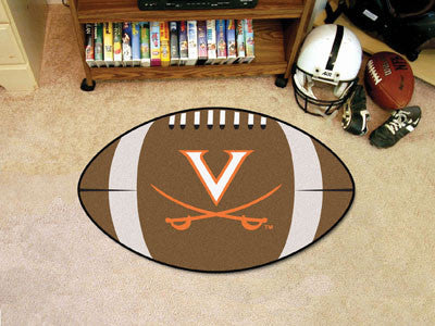 "NCAA Officially licensed University of Virginia Football Mat 20.5""x32.5"" Protect your floor in style and show off your fando"