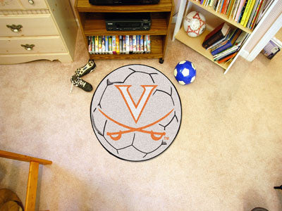 "NCAA Officially licensed University of Virginia Soccer Ball 27"" diameter Protect your floor in style and show off your fando"