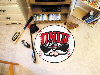"NCAA Officially licensed University of Nevada, Las Vegas (UNLV) Baseball Mat 27"" diameter Protect your floor in style and sh"