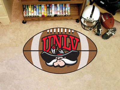 "NCAA Officially licensed University of Nevada, Las Vegas (UNLV) Football Mat 20.5""x32.5"" Protect your floor in style and sho"