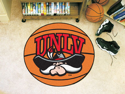 "NCAA Officially licensed University of Nevada, Las Vegas (UNLV) Basketball Mat 27"" diameter Protect your floor in style and"