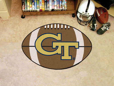 "NCAA Officially licensed Georgia Tech Football Mat 20.5""x32.5"" Protect your floor in style and show off your fandom with Foo"