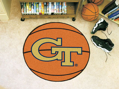 "NCAA Officially licensed Georgia Tech Basketball Mat 27"" diameter Protect your floor in style and show off your fandom with"