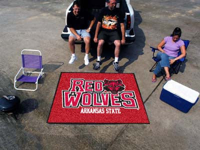 "NCAA Officially licensed Arkansas State University Ulti-Mat 59.5""x94.5"" Start showing off your team pride with an Ulti-Mat f"